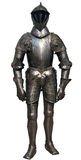 Isolated antique knight. Metal protection of the soldier. The Metropolitan Museum of Art, New York stock photography