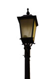 Isolated Antique Lamppost Lantern. On a white background Stock Photography
