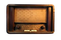 Isolated Antique Radio, Vintage and Rectangle Radio royalty free stock image