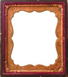 Isolated Antique tintype frame Stock Images