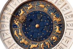 Isolated Antique Zodiac Clock In Venice stock photos