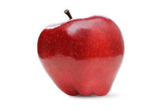 Isolated apple. Ripe red apple isolated on white Stock Photo