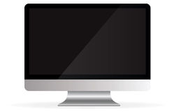 Isolated Apple iMac Desktop Computer (Vector). An isolated computer modern against a white background. Download the .AI file for full scalability on a stock illustration