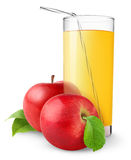 Isolated Apple Juice Royalty Free Stock Photography