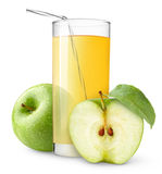 Isolated Apple Juice Royalty Free Stock Images
