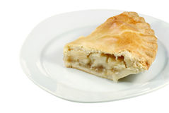 Isolated apple pie Stock Image