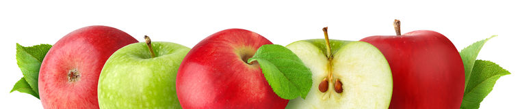Isolated Apples Royalty Free Stock Photos