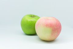 Isolated apples. Isolated green and red apples Royalty Free Stock Images