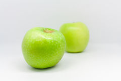 Isolated apples. Isolated one green apple, fruit Royalty Free Stock Photography