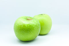 Isolated apples. Isolated one green apple, fruit Stock Photo