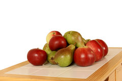 Isolated apples and pears Stock Image