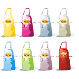 Isolated apron set Royalty Free Stock Photography