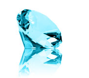 Isolated Aquamarine Jewel Stock Image