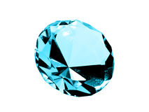 Isolated Aquamarine Jewel Stock Photography