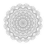 Isolated arabesque mandala with spiral Stock Photo