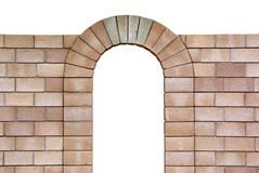Isolated arch from bricks Royalty Free Stock Photo