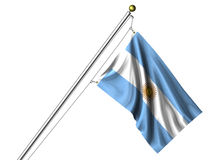 Isolated Argentine Flag Stock Photo