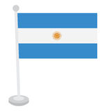 Isolated Argentine flag Stock Images