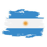 Isolated Argentinian flag Stock Image