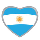 Isolated Argentinian flag Royalty Free Stock Photos