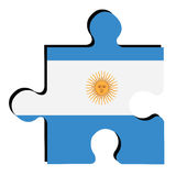 Isolated Argentinian flag Royalty Free Stock Photography
