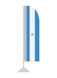 Isolated Argentinian flag. On a pole, Vector illustration stock illustration