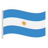 Isolated Argentinian flag Royalty Free Stock Image