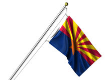Isolated Arizona Flag Stock Photo