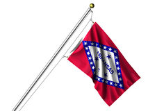 Isolated Arkansas Flag Royalty Free Stock Photos