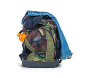 Isolated Army Camouflage Backpack Stock Images
