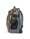 Isolated Army Camouflage backpack Royalty Free Stock Photo