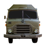 Isolated Army Truck From Front Royalty Free Stock Photography