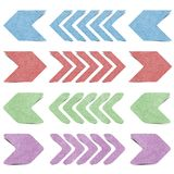 Isolated arrow recycled paper craft Royalty Free Stock Photos