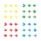 Isolated arrows set, undo and previous buttons Stock Image