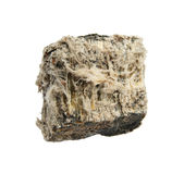 Isolated asbestos. Rock sample of mineral asbestos isolated on white Royalty Free Stock Photo