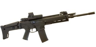Isolated assault rifle Royalty Free Stock Images