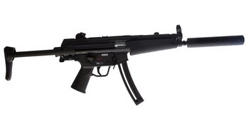 Isolated assault rifle Stock Image