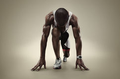 Isolated Athlete runner Royalty Free Stock Photography