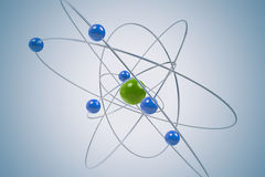 Isolated atom. Stock Image