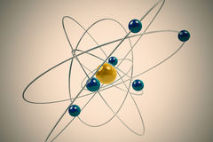 Isolated atom. Stock Photos