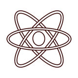 Isolated atom science Royalty Free Stock Photography