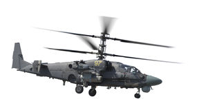 Isolated Attack helicopter Royalty Free Stock Image
