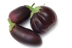 Isolated aubergine Royalty Free Stock Photos
