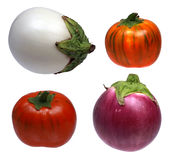 Isolated aubergines Stock Photography