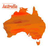 Isolated Australian map. On a white background, Vector illustration Royalty Free Stock Photography
