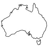 Isolated Australian map Royalty Free Stock Photography