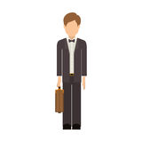 Isolated avatar man and suitcase design Stock Photo
