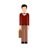 Isolated avatar man and suitcase design Royalty Free Stock Photo