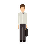 Isolated avatar man and suitcase design Stock Photography
