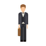 Isolated avatar man and suitcase design Royalty Free Stock Images